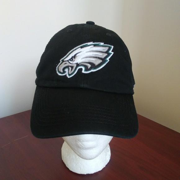 buy online a4e0f a1e7f Philadelphia Eagles Baseball Cap Black White- 3XL